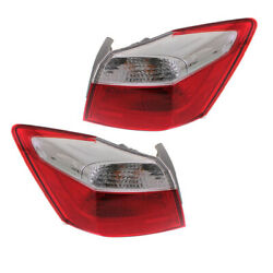 Fits 13 14 15 Accord Ex/lx/sport Outer Taillight Taillamp Rear Light Set Pair