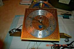 Curio Grandfather Clock Movement With Dial Fully Working And Serviced