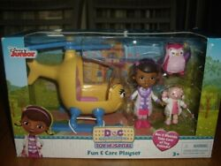 New Disney Junior Doc Mcstuffins Toy Hospital Fun And Care Playset Helicopter Owl