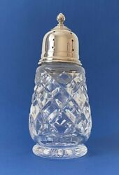 Art Deco Solid Silver And Cut Glass Sugar Shaker - 1931 - Deakin And Francis Ltd