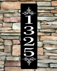 Personalized Home Address Sign Aluminum 3quot; x 12quot; Custom House Number Plaque sq14 $12.99