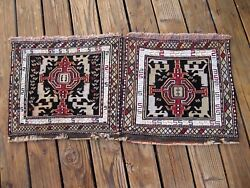 Exceptional 1890 Antique Caucasian Pair  Verneh Bag Face Highly Collectible