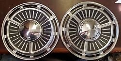 1963 Chevy Ii Wheel Covers 13 Hubcaps Nos - Set Of 2