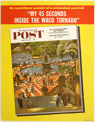 Poster For Cover Of The Saturday Evening Post July 11 1953 By John Falter