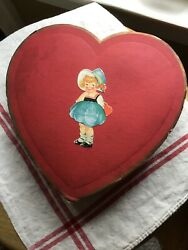 Collector Rare Vintage Valentine's Day Candy Box Paper Lace Die Cut  For My Val