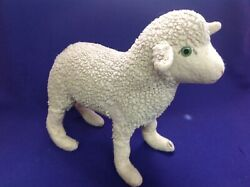 Antique German Sheep Mary Had A Little Lamb Music Box Toy Thorens Works Well Old