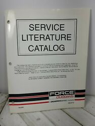 Force Outboards Service Literature Catalog Chrysler 1960s-1990s Cg