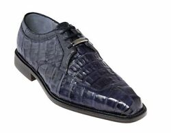 Belvedere Menand039s Dress Shoes Susa Genuine Crocodile Leather Navy P32