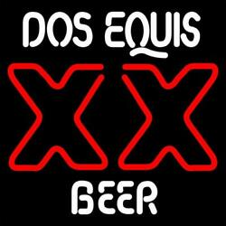 New Cerveza Xx Dos Equis Beer Bar Neon Sign 20x16 Real Glass Lamp Lighting