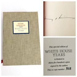 Henry Kissinger White House Years Signed First Edition 1979