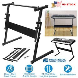 Electronic Piano Keyboard Stand Instrument Holder Adjustable Height Accessories