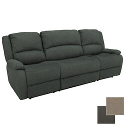 Charles 94 Cloth Double Rv Wall Hugger Recliner Sofa Couch With Console Fossil