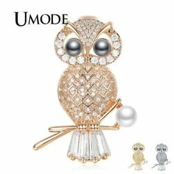 UMODE New Fashion Pearl Cute Owl Brooch for Women Party Wedding Jewelry Animal