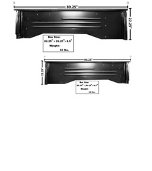 Chevy, Chevrolet Pickup Truck Shortbed Stepside Bedside Set Left And Right 1960-66