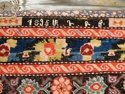 Antique Dated 1896 Armenian Karabakh Rug 7'4 X 3'6 Great Colors