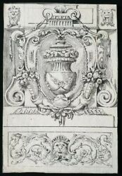 18th.century Old Master Drawing Prov. 1700s Architecture Italian Novelli Urn