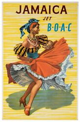 Boac Jet Jamaica Original Poster 1956 By Hayes
