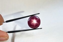 Natural 6 Line Star Ruby Oval Cabochon 21.35 Cts Gemstone For Ring Pendant