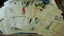 Book Pages Antique Paper Old Vintage Ephemera For Journal 85 Pgs All Different