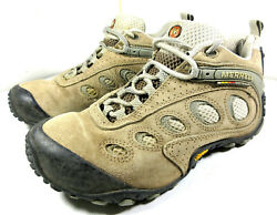 Merrell Chameleon Ventilator Classic Taupe Hiking Shoes Leather Size 7 Women#x27;s
