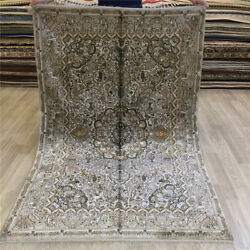 Yilong 4and039x6and039 Handmade Classic Silk Carpet Antique Hand Knotted Area Rugs 016b