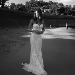 Nwt Lihi Hod Sienna Strapless Lace Sweetheart Wedding Dress Gown 10 Us 6 9000
