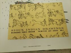 Sioux Indian Drawings Primitive Art Series No.1