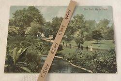 Old Postcard - The Dell, Hyde Park, London