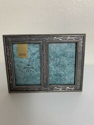 Pewter Picture Frame Hallmark 2 Pictures Side By Side 2 X 3
