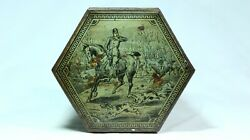 Antique Victorian Taylor Brothers Mustard Tin - Hunting Fishing Sports - 1890's