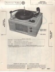 1951 Aircastle 358vm Record Player Changer Service Manual Photofact Schematic