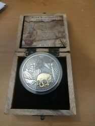 2014 Niue 5 Klaus Stortebeker Pirate Of The North Silver 5 Oz Silver Coin 27000