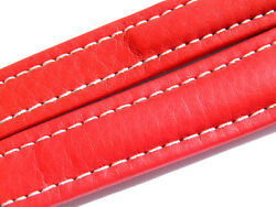 Breitling Band 19mm Red Roja Calf Strap 003-19