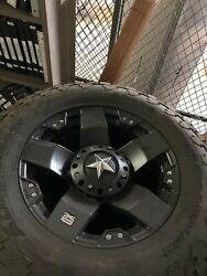 Set Of 4 Black Xd Rock Star 20 Inch Wheels With 325/60/r20 Nitto Grapplers.