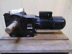 2 Hp Nord Electric Motor With Dual Output Gearbox Speed Reducer 2-1/8 Shaft