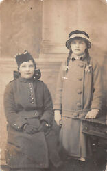 R330403 Two Women In Coats And Hats And Gloves. Sister Frene And Margaret
