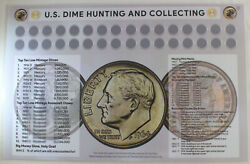 U.s. Dime Hunting And Collecting 11 X 17 Coin Roll Sorting Mat New