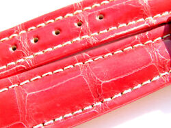 Breitling Band P454 19mm 19/16 115/75 Croco Red Roja Strap 036-19