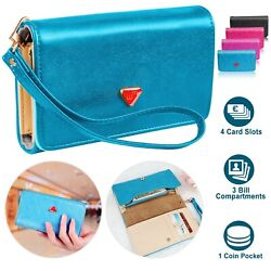 Women Leather Strap Cash Clutch Wallet Phone Case Cover For iPhone amp; Samsung US $8.05