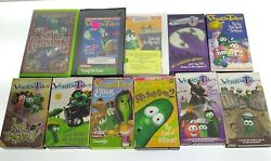 Veggie Tales Lot Of 11 Vhs Tapes Some Wear Good Condition V36