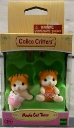 Calico Critters Maple Cat Twins NEW IN BOX *** FREE SHIPPING ***