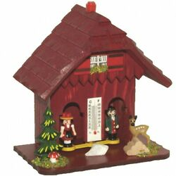 German Black Forest Weather House Red Tu 73 Rot New