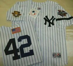 Mariano Rivera Yankees Mens Home 2001 World Series Jersey Majestic New W Tags