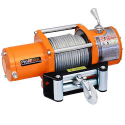 6000 Lbs Electric Winch Wire Rope 12v