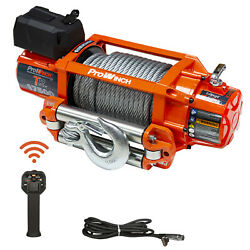 Electric Wireless Waterproof Winch 17500 Lbs 12v Wire Rope Steel Roller With Wi