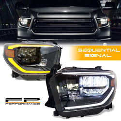 For 14-2020 Tundra Dynamic Sequential Signal Activation Trd Style Led Headlights