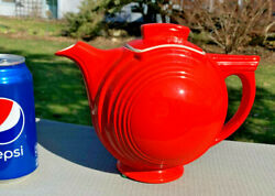 Hall China Basketball Chinese Red.. 6-cup Teapot..downsizing Collection...mint