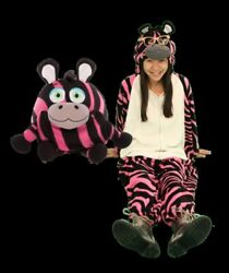 Pink Striped Zebra Janimals Wearable Stuffed Animal Med Size 3.5 to 5 ft. New $19.94