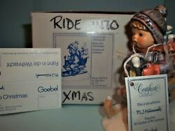 Hummelride Into Christmas396 2/0tmk6boy With Sledsigned By Skrobekmib