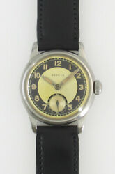 Zenith Small Second Bullseye Dial Manual Vintage Watch 1940and039s Overhauled
